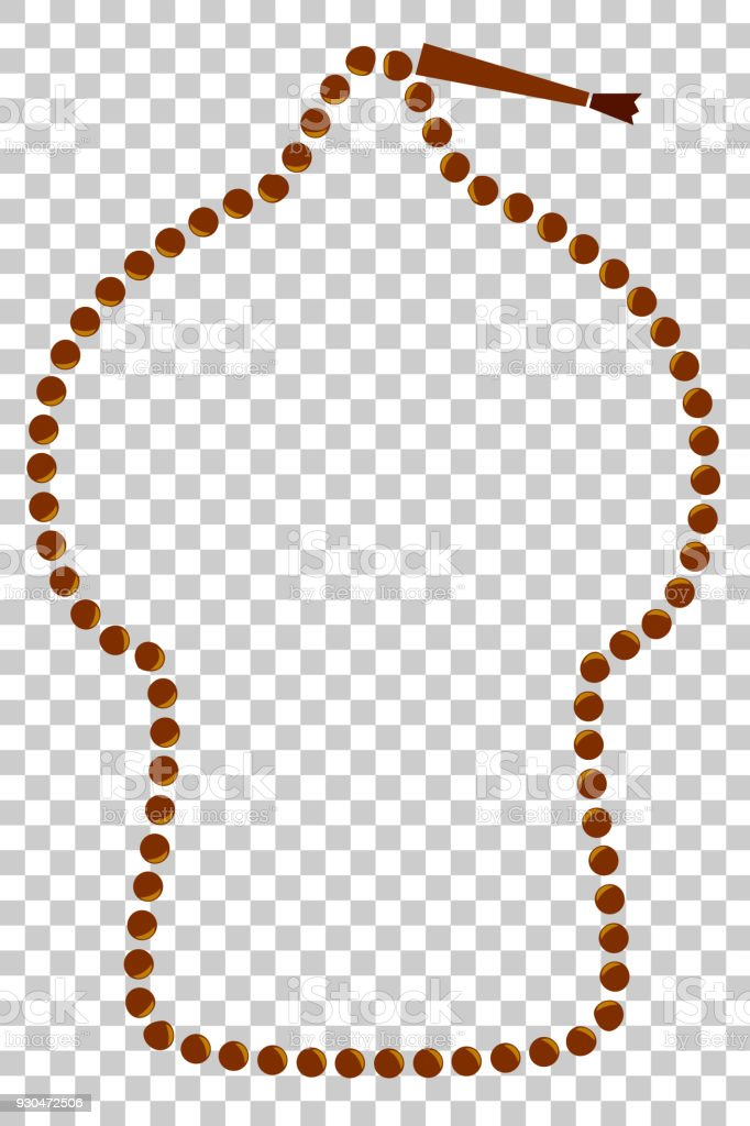 Mosque Shape Frame From Islam Prayer Beads At Transparent Effect ...