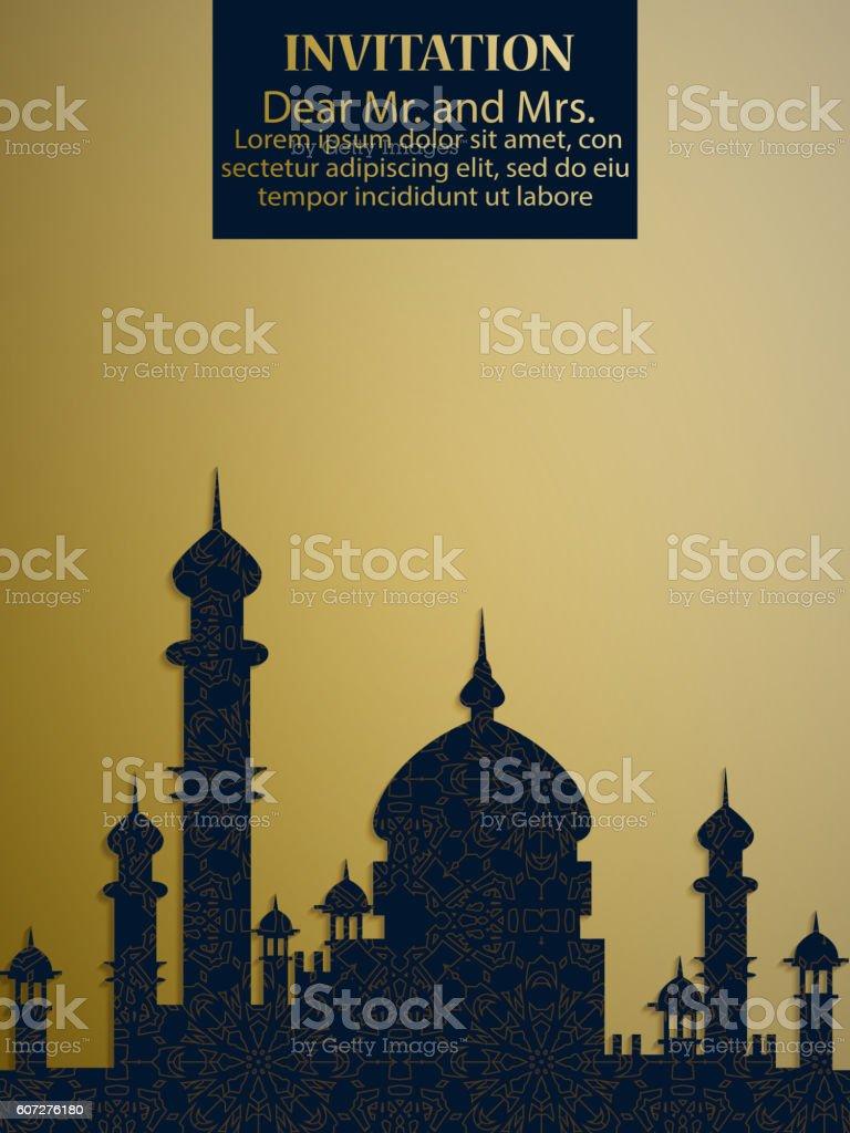 Moschee Silhouette – Vektorgrafik