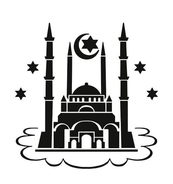 Best Black And White Islamic Mosque Illustrations, Royalty ...