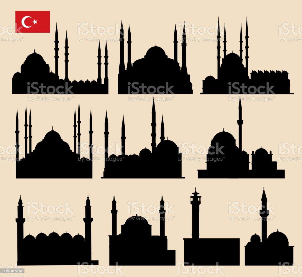 Mosque vector art illustration