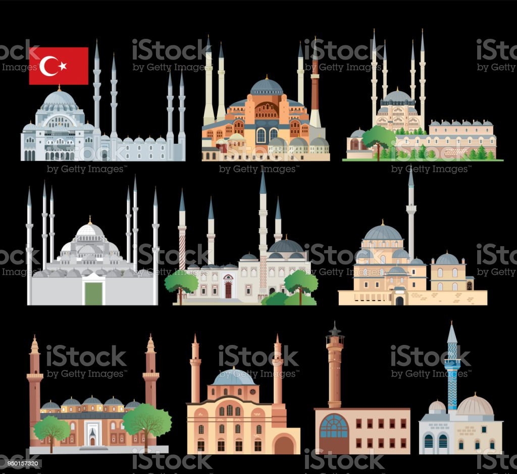 Mosque vector art illustration