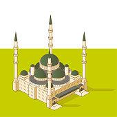26.57° isometric mosque