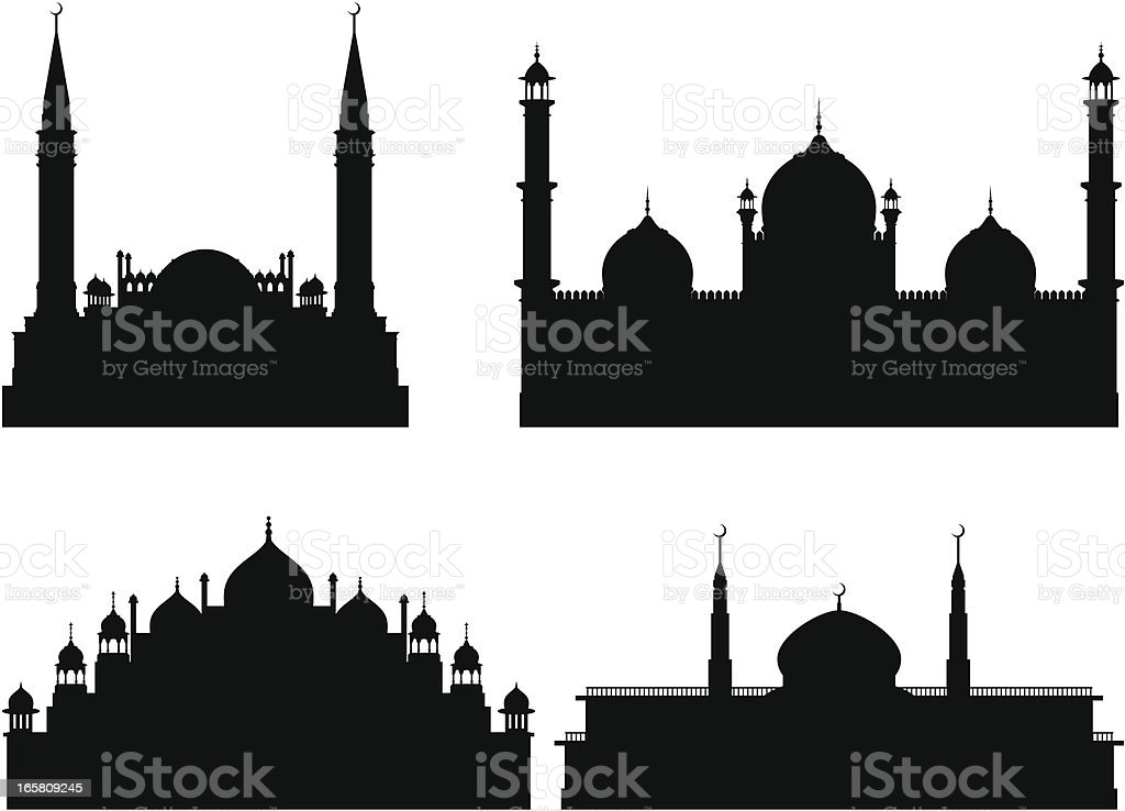 Mosques vector art illustration