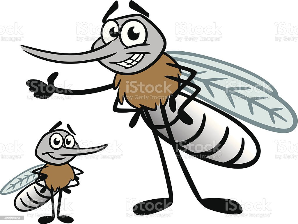 Mosquito Family vector art illustration