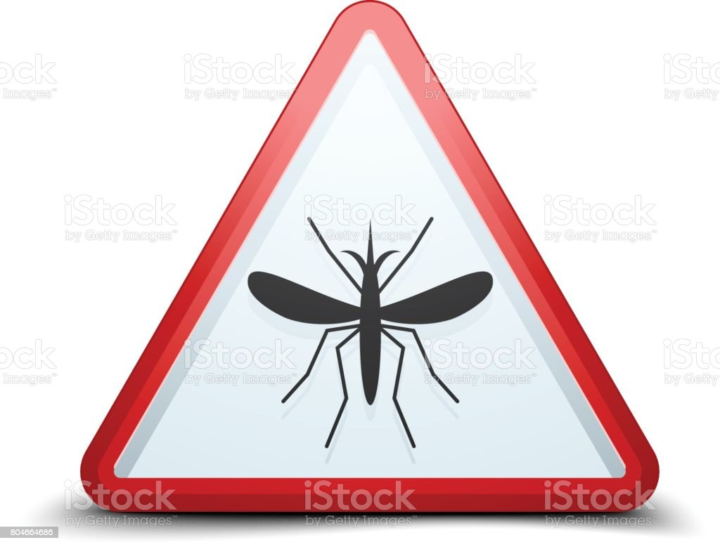 Mosquito Free Stop sign vector art illustration