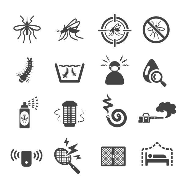 illustrazioni stock, clip art, cartoni animati e icone di tendenza di mosquito icon - zanzare
