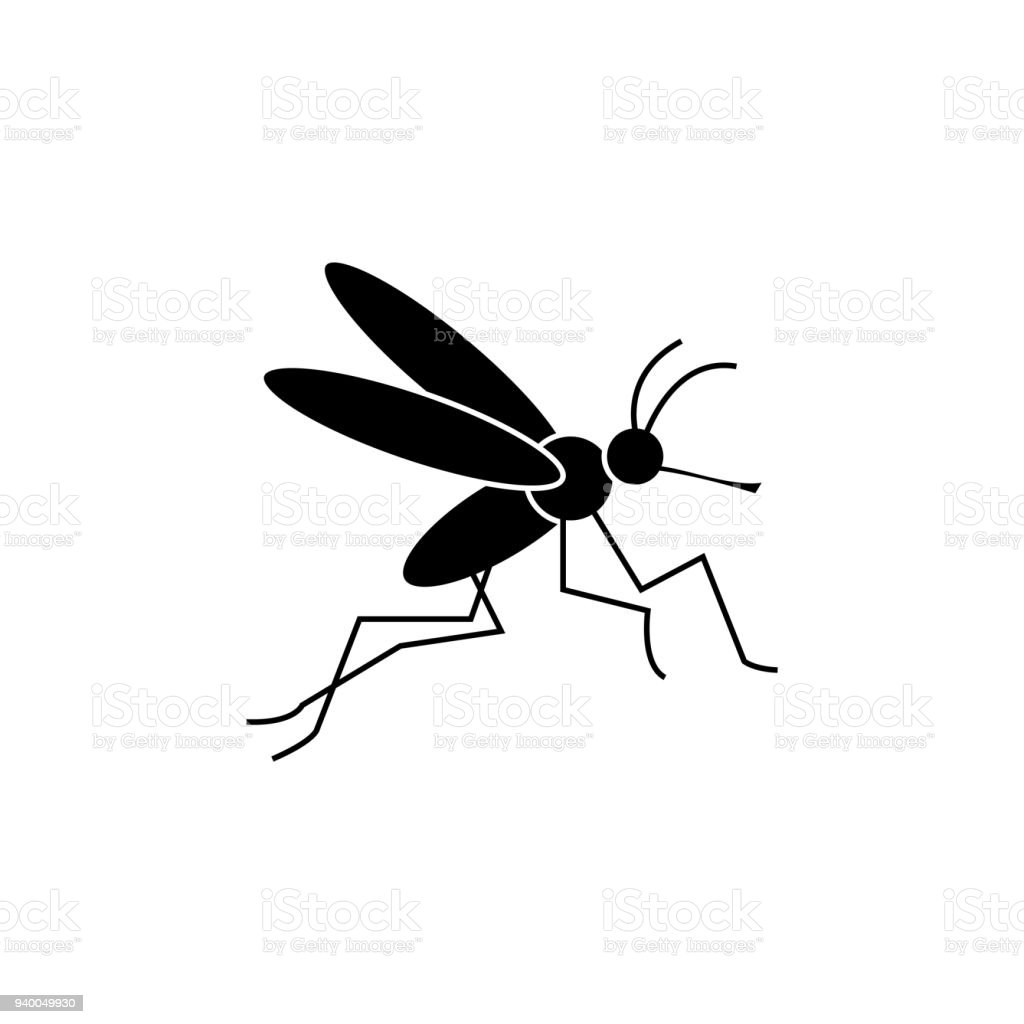 Mosquito Icon vector art illustration