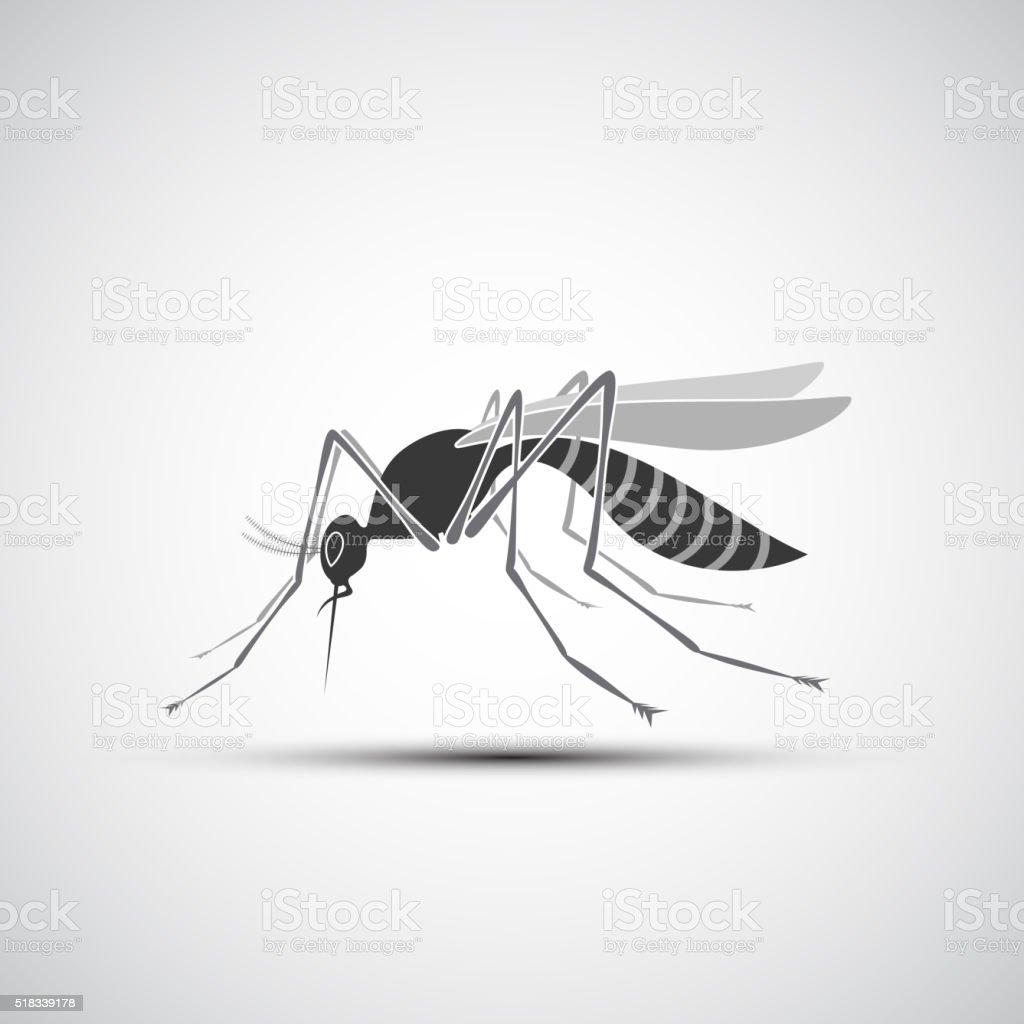 Zanzara Icona Stinger Sola Su Sfondo Bianco Immagini Vettoriali