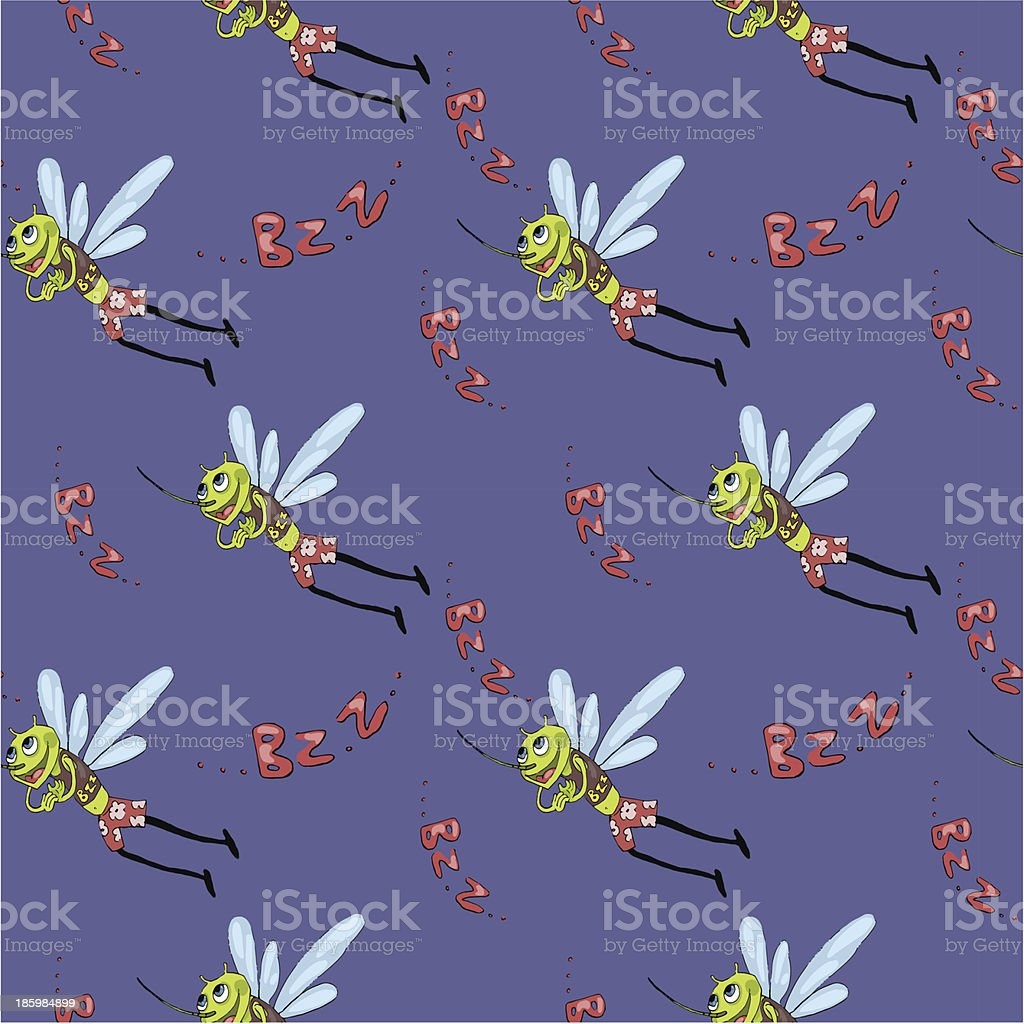 mosquito pattern royalty-free stock vector art
