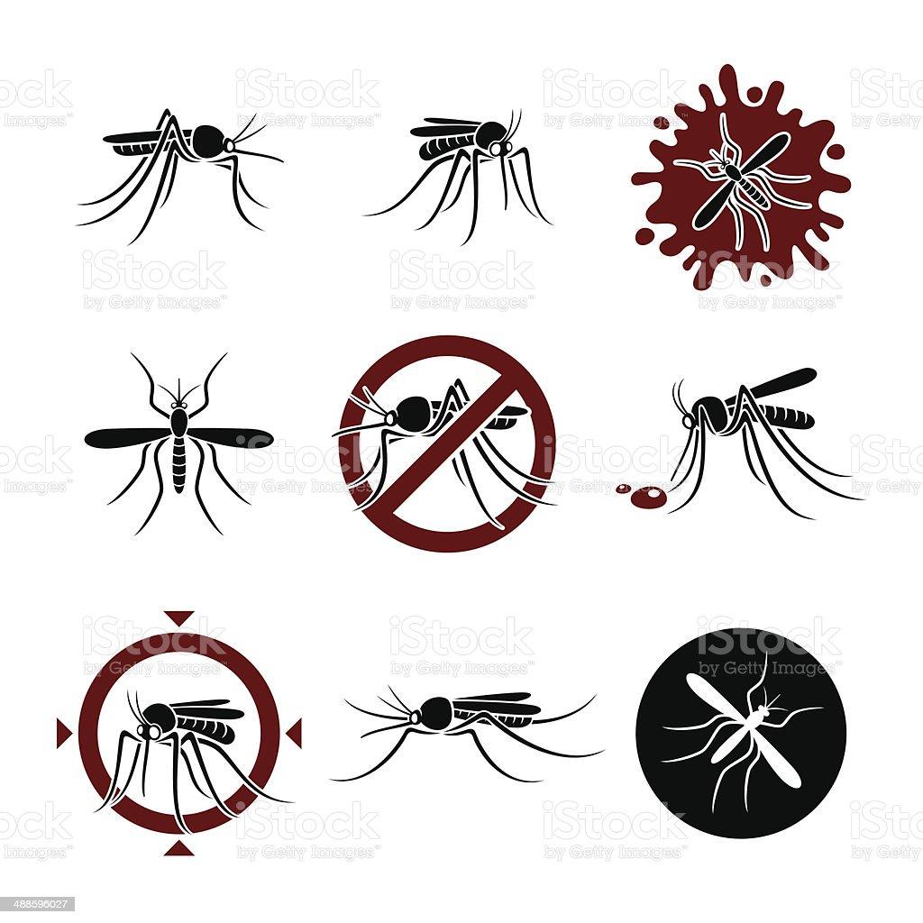 Mosquito set. Vector vector art illustration