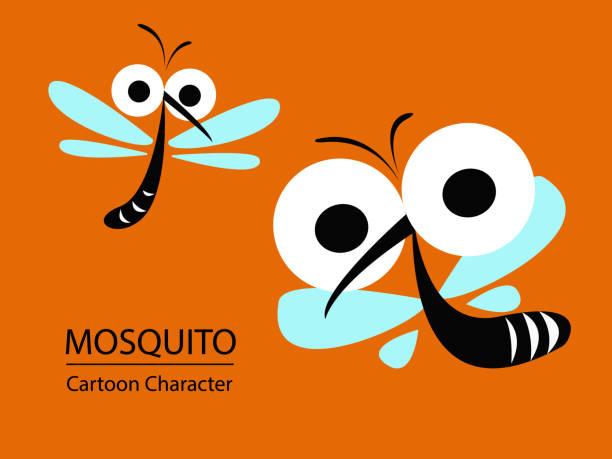 illustrazioni stock, clip art, cartoni animati e icone di tendenza di mosquito the carrier of dengue fever and zika virus. mosquito control concept. vector illustration design. - zanzare