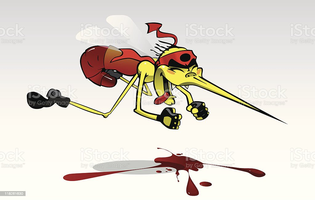 Mosquito vector art illustration