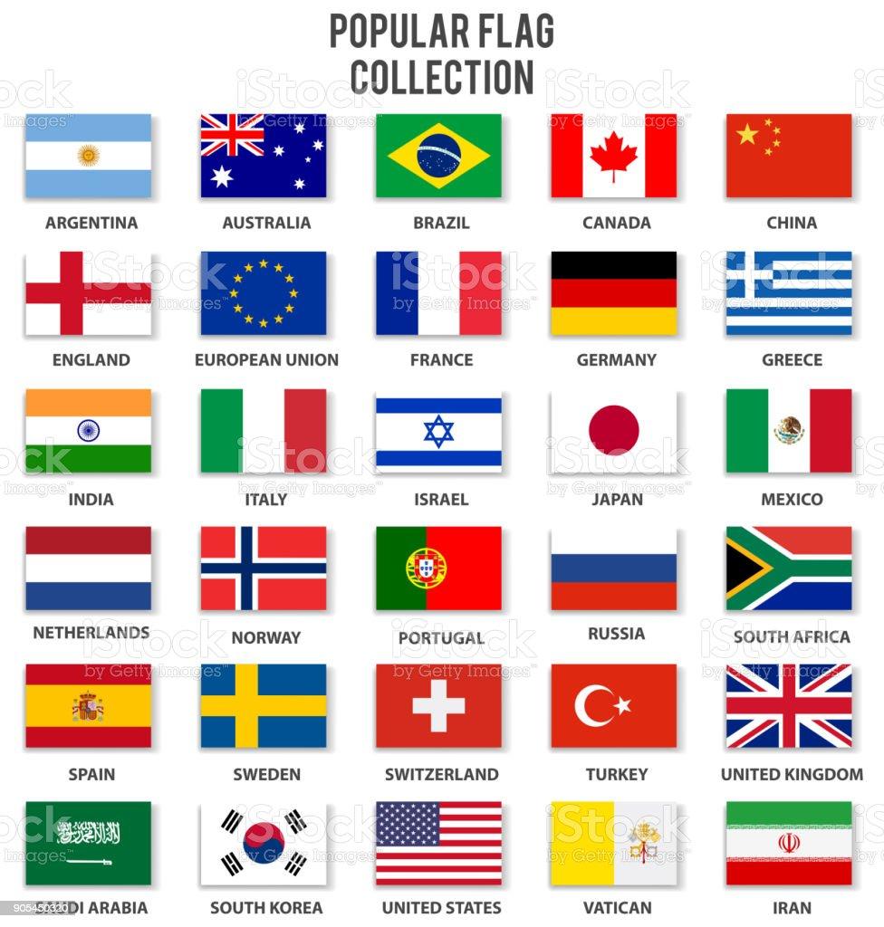 最も人気のあるフラグのコレクション ベクターアートイラスト