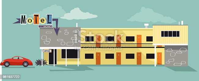 istock Motel illustration 981937722