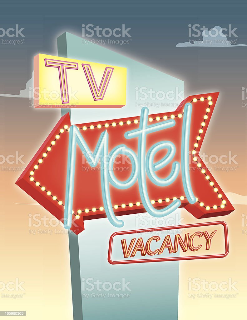 Motel Sign royalty-free motel sign stock vector art & more images of american culture