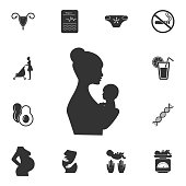 Mother and baby icon. Simple element illustration. Mother and baby symbol design from Pregnancy collection set. Can be used for web and mobile on white background