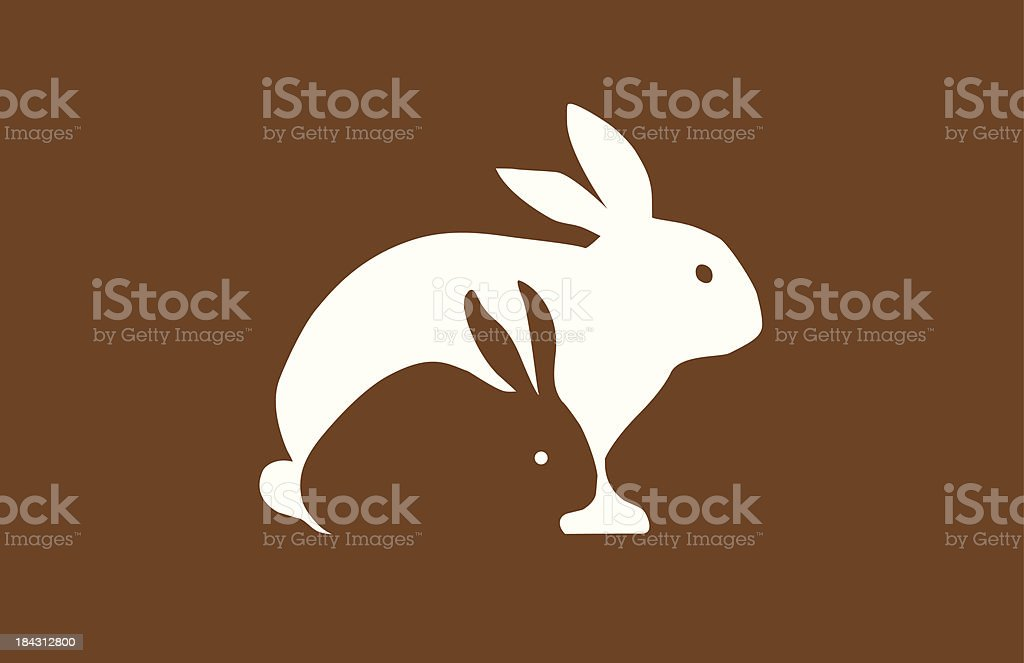 Mother and Baby Rabbit vector art illustration
