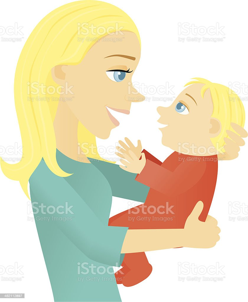 Mother and Baby royalty-free mother and baby stock vector art & more images of adult
