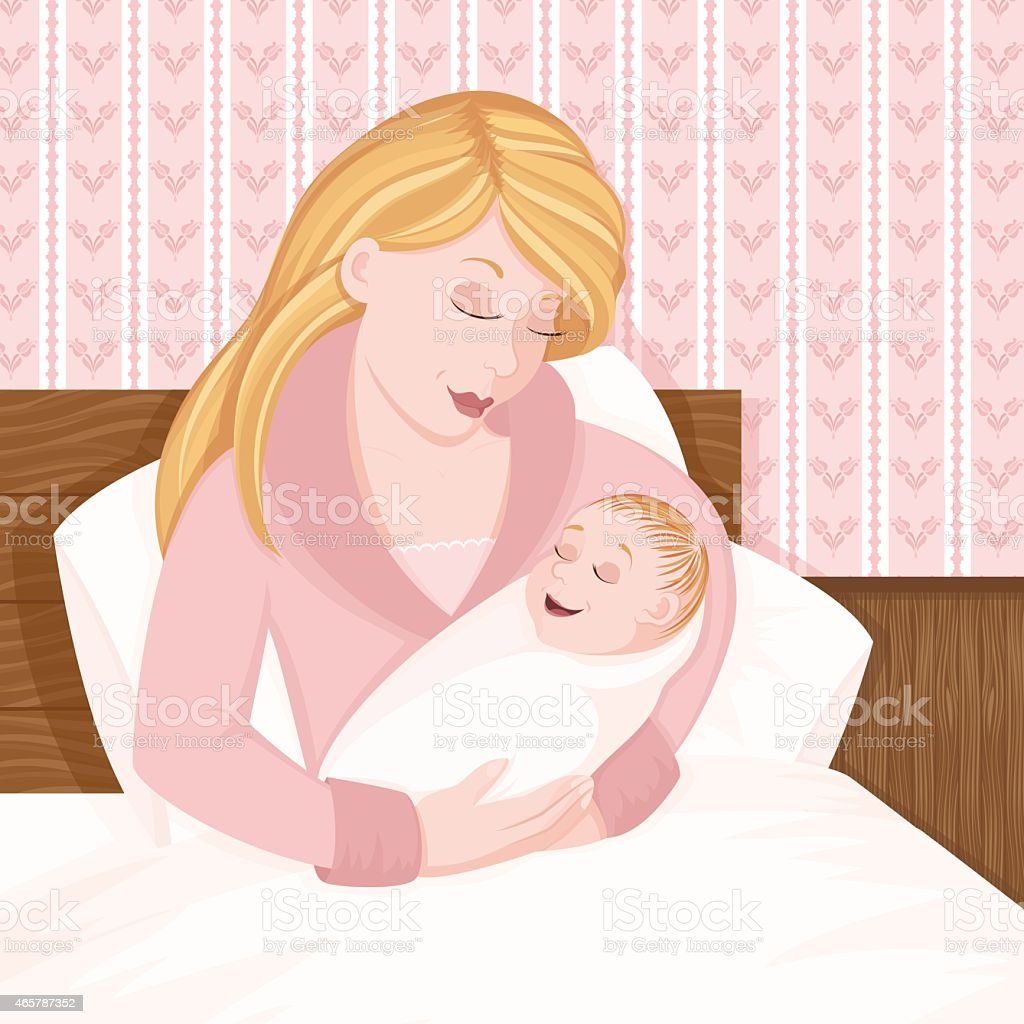 Mother and Baby royalty-free mother and baby stock vector art & more images of 2015