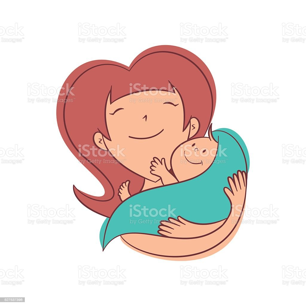 royalty free mom holding baby clip art vector images rh istockphoto com  free baby mermaid clipart