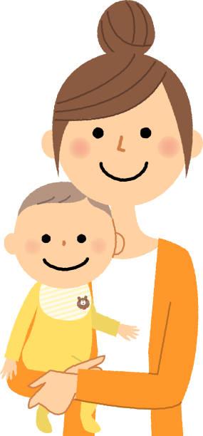 母親と赤ちゃん - 母親点のイラスト素材/クリップアート素材/マンガ素材/アイコン素材