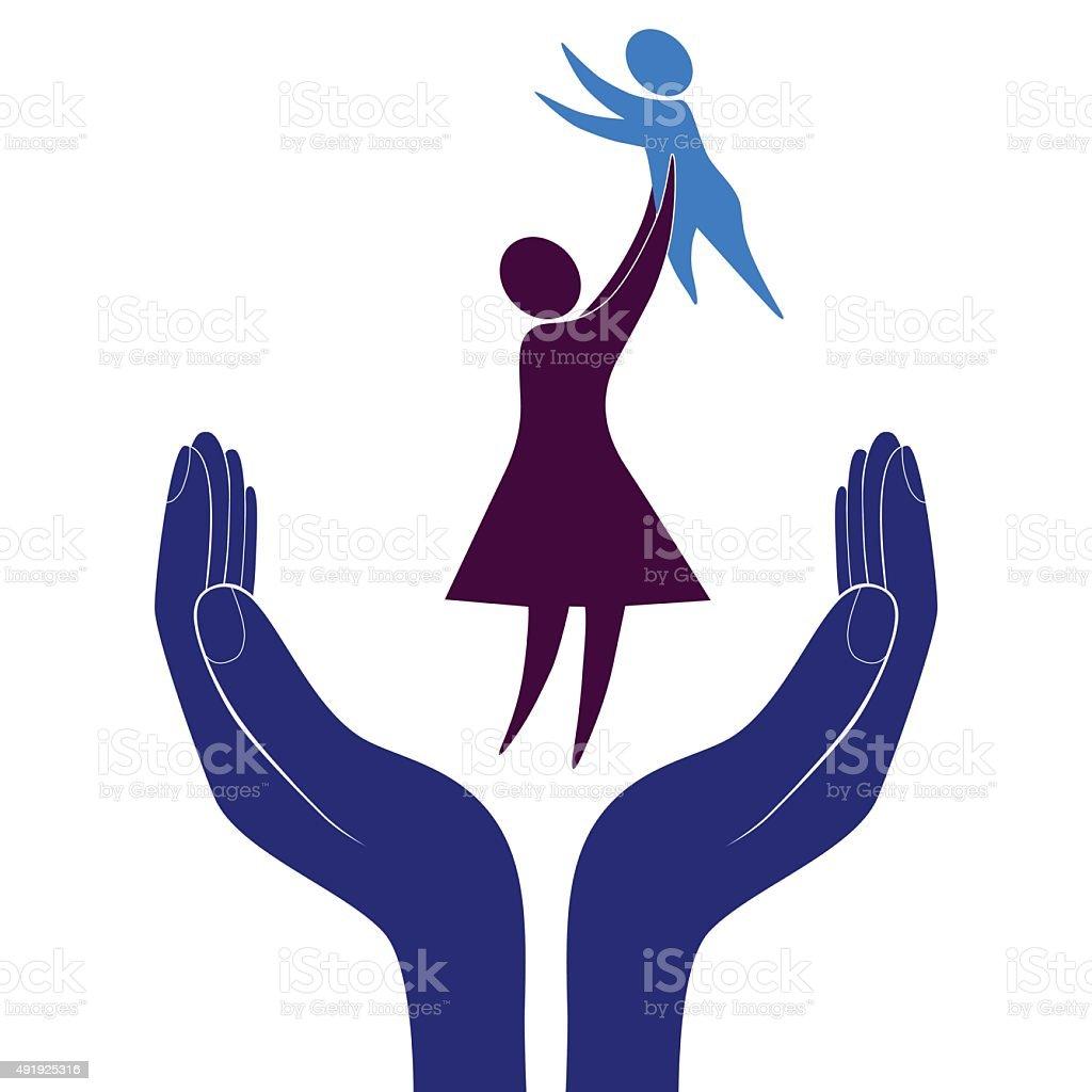 Mère et enfant soin VECTEUR - Illustration vectorielle
