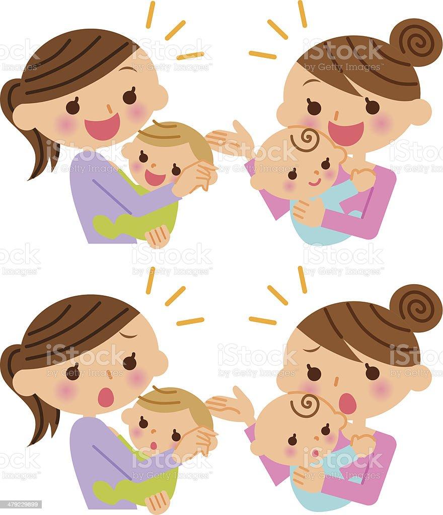 Mother and child illustration vector art illustration