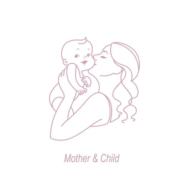 母と子の行。 - 母親点のイラスト素材/クリップアート素材/マンガ素材/アイコン素材