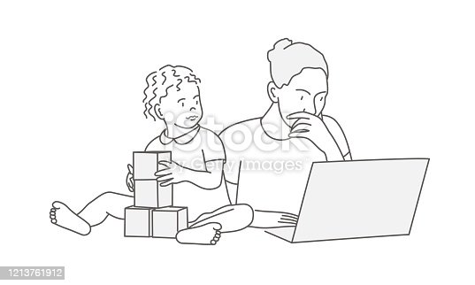 istock Mother and daughter at the table. 1213761912