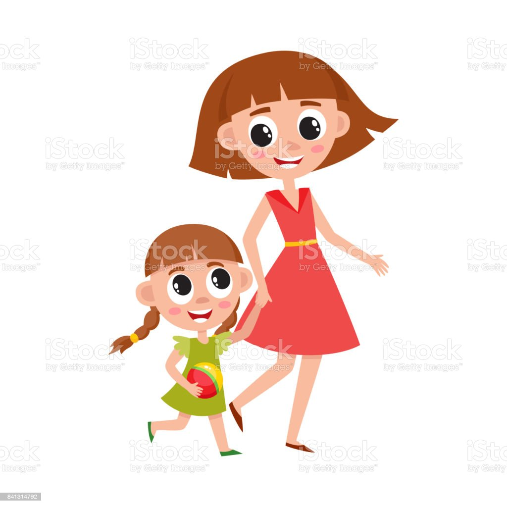 royalty free mother and daughter clip art vector images rh istockphoto com mom daughter clipart mother daughter cooking clipart