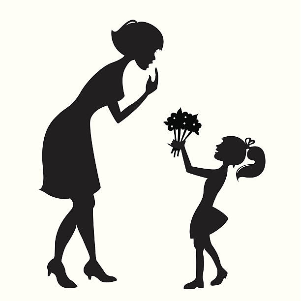 Royalty Free Mother And Daughter Clip Art, Vector Images