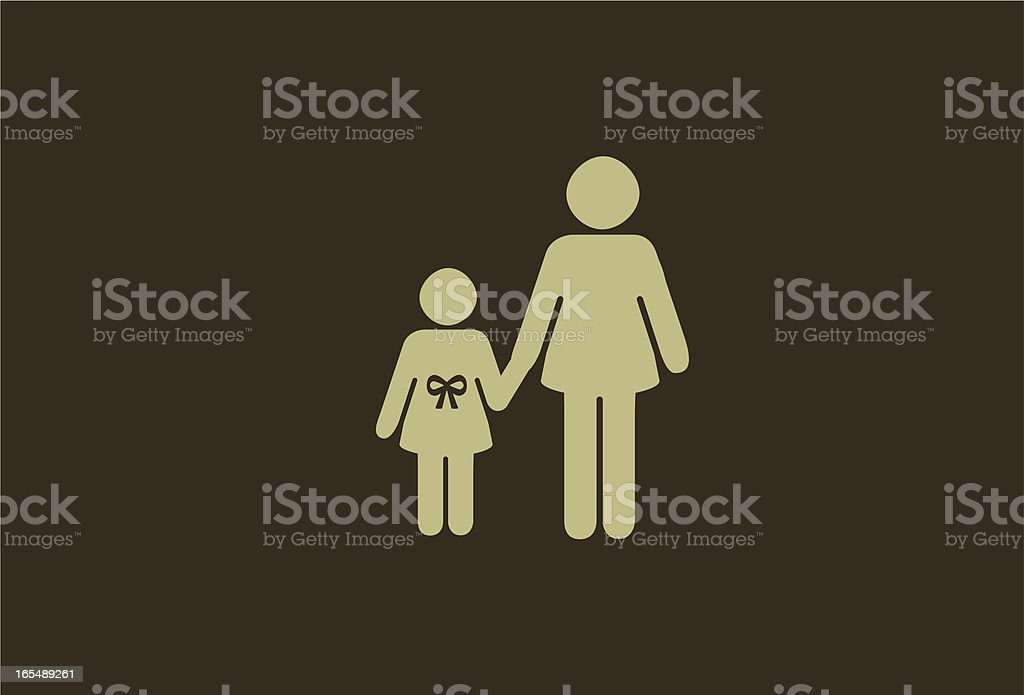 mother and daughter royalty-free stock vector art