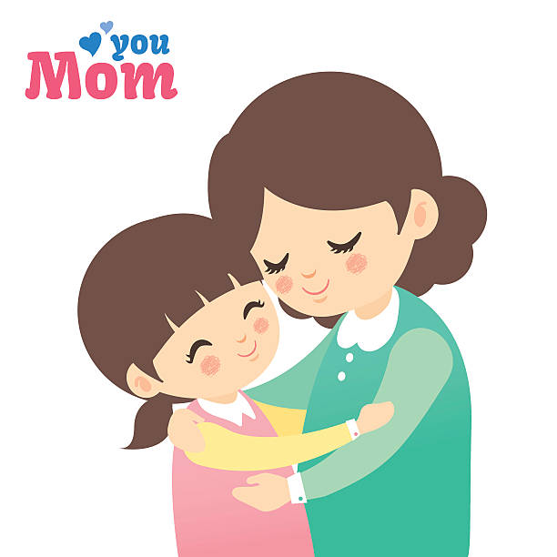 Royalty Free Mother Daughter Hug Clip Art Clip Art, Vector
