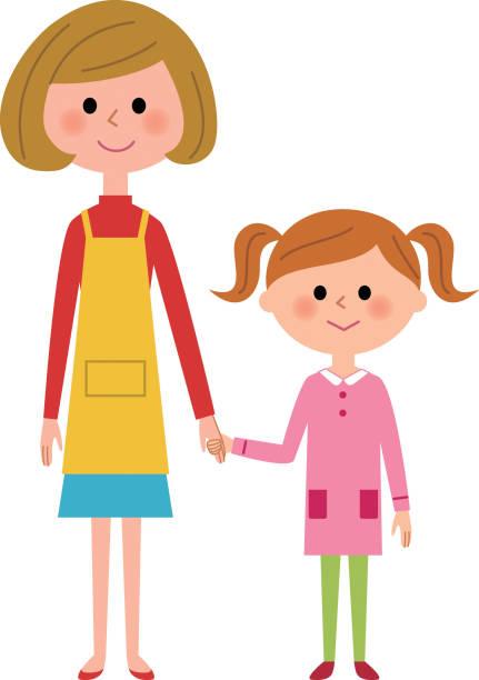 母と少女  - 娘点のイラスト素材/クリップアート素材/マンガ素材/アイコン素材