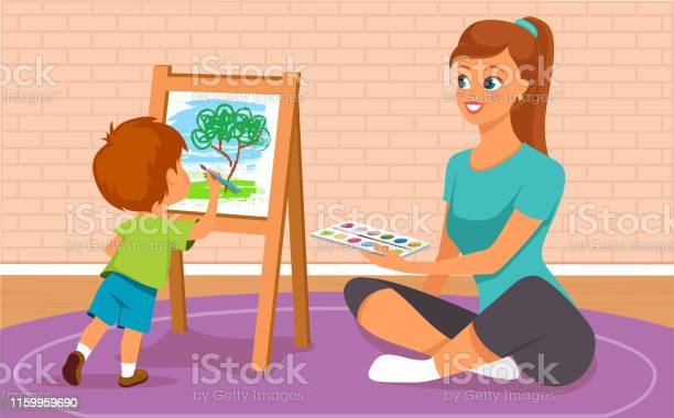 Mother and her son painting vector id1159959690?b=1&k=6&m=1159959690&s=612x612&h=lnbqjt2xqsrs6flwrwvpqvlvzs2tnpzbpz6e35glh1s=