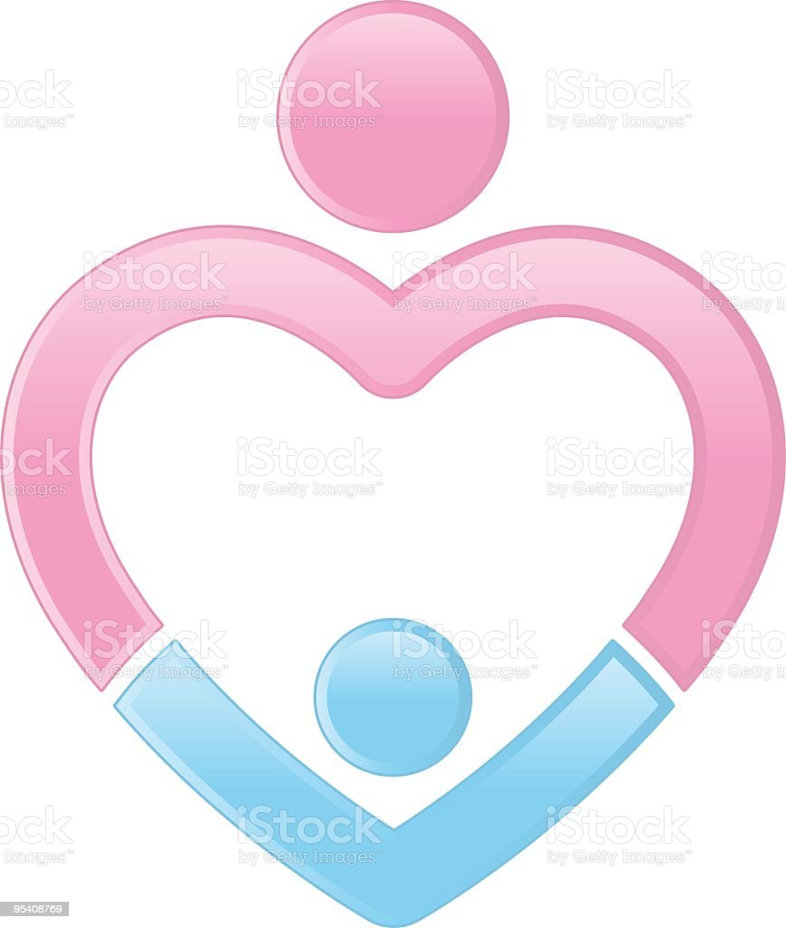 Mother And Son Heart Stock Vector Art More Images Of Affectionate