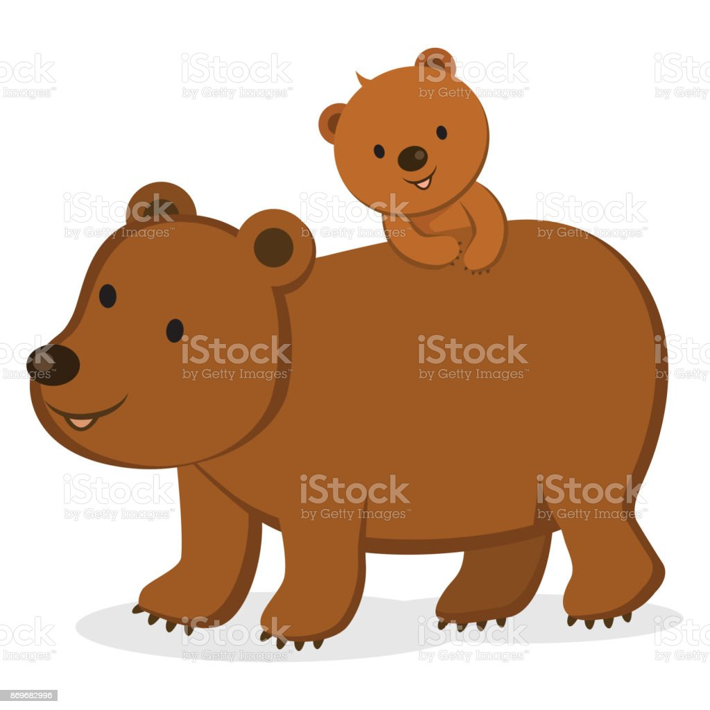 Mother Bear And Her Baby Royalty Free Stock