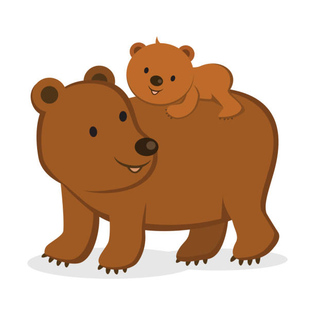 Royalty Free Grizzly Bear Cub Clip Art, Vector Images