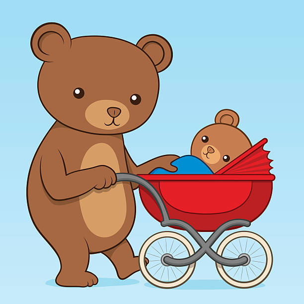Royalty Free Mom Pushing Stroller Clip Art, Vector Images