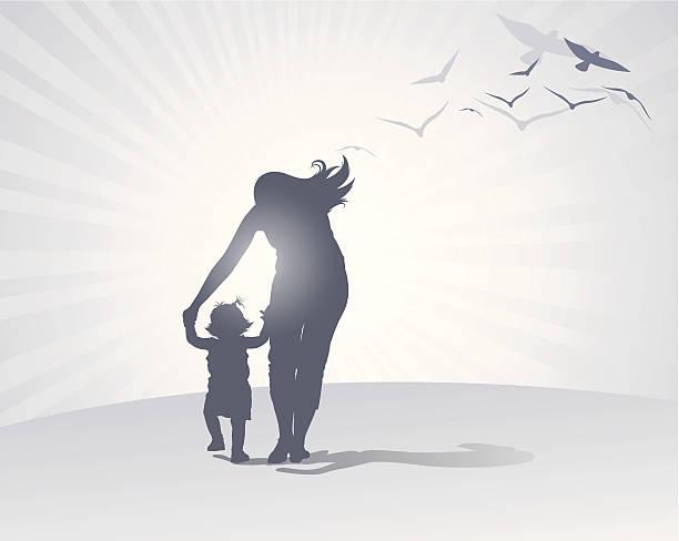 ilustraciones, imágenes clip art, dibujos animados e iconos de stock de madre de atención - hija
