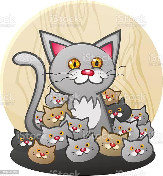 Mother cat with a litter of kittens vector id166670983?b=1&k=6&m=166670983&s=612x612&h=jgsgi9 mndj6c89j5pkq2dgppp6uocow1gawcrj7o6o=