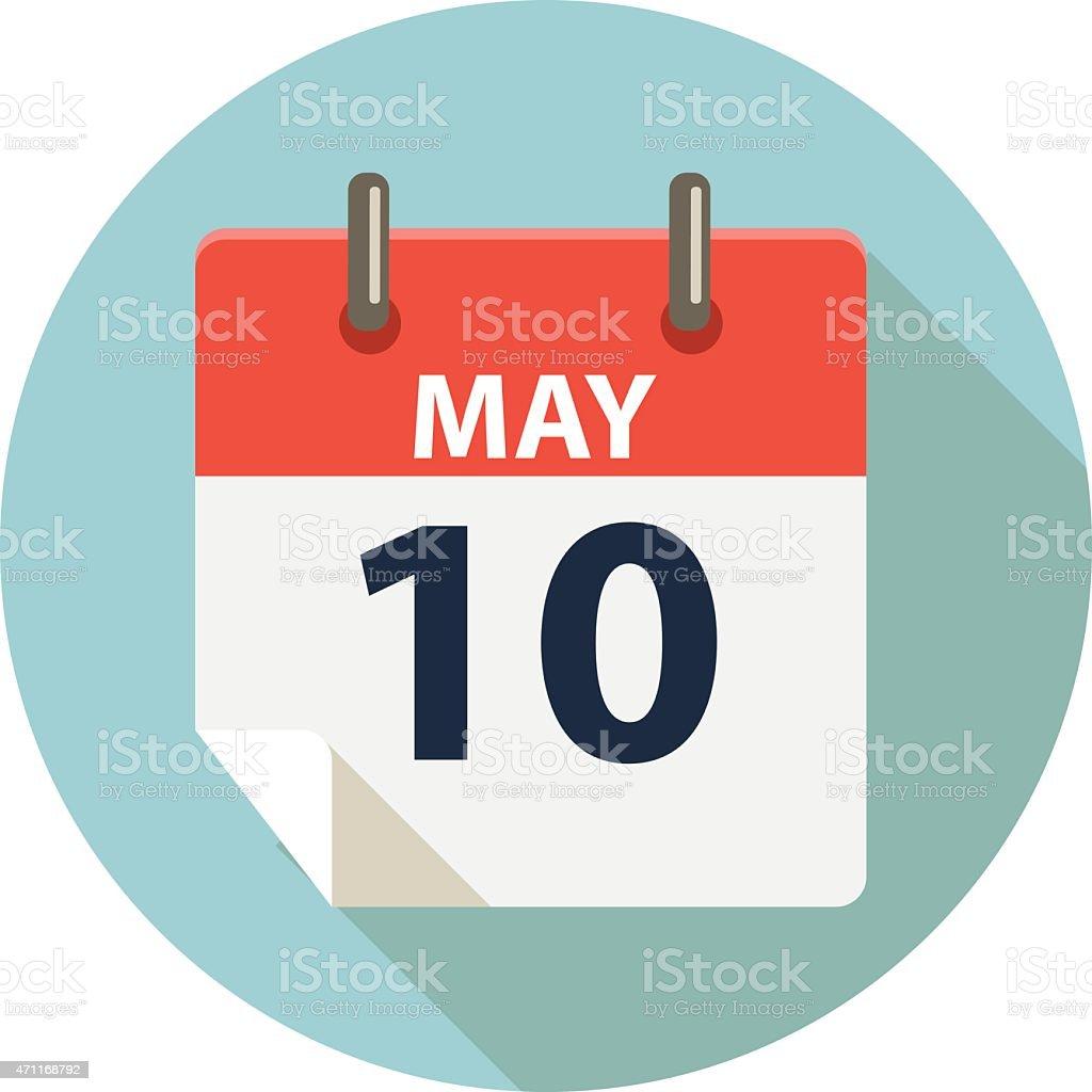 Madre giorno icona Calendar (Calendario) - arte vettoriale royalty-free di 2015
