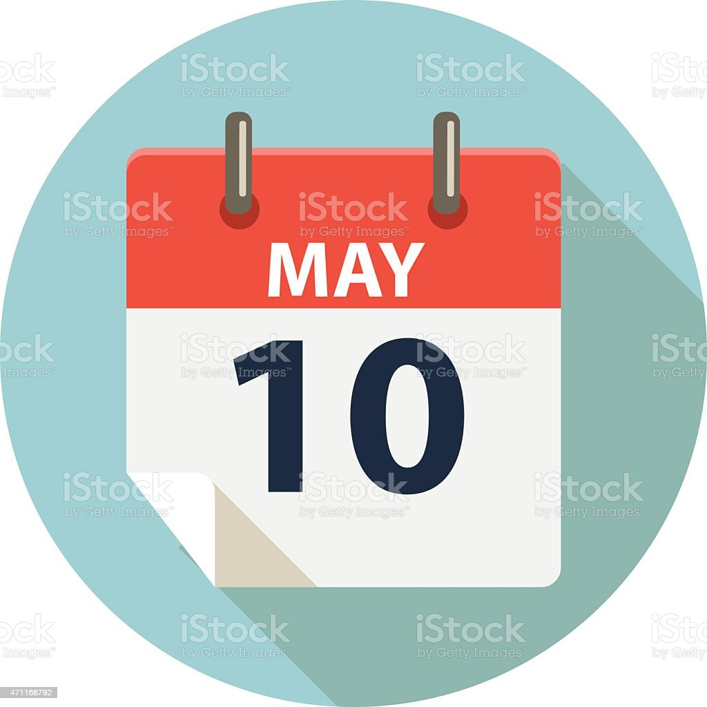 Mother Day Calendar Icon vector art illustration