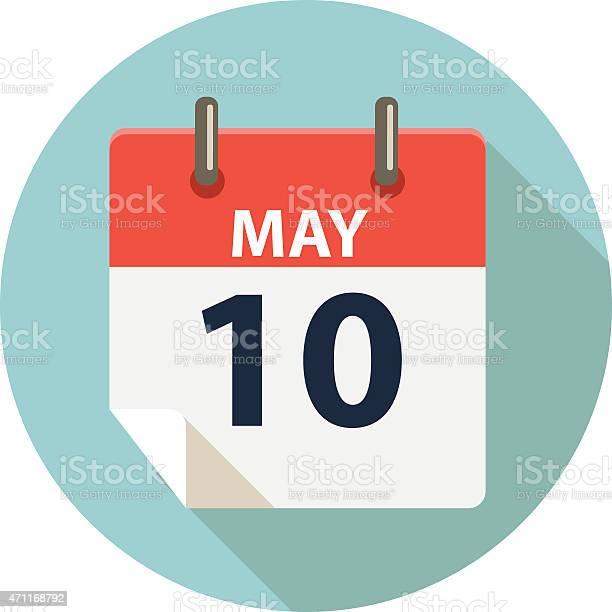 Madre Giorno Icona Calendar - Immagini vettoriali stock e altre immagini di 2015