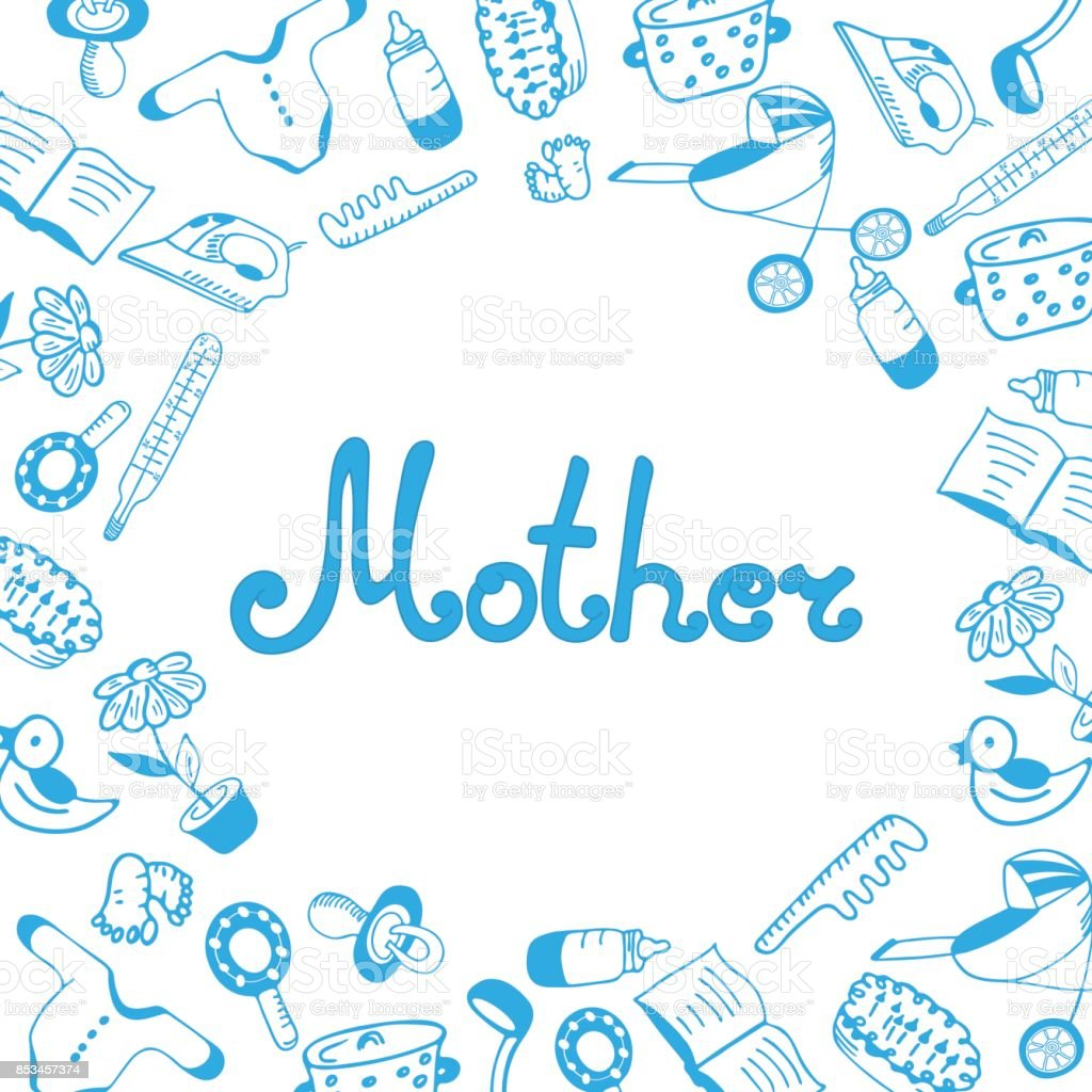 Mother day greeting card hand lettering and drawn childrens clothing mother day greeting card hand lettering and drawn childrens clothing and accessories kitchen and kristyandbryce Gallery