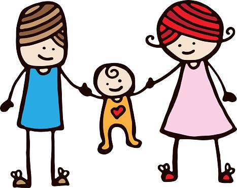 Mother Father And Baby Stockvectorkunst en meer beelden van Baby