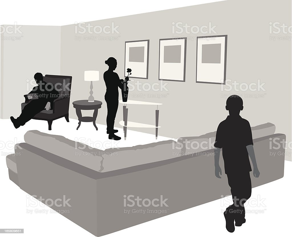 Mother Father Son Vector Silhouette royalty-free mother father son vector silhouette stock vector art & more images of adult
