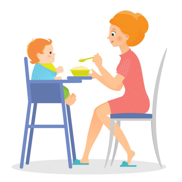 High Chair Illustrations Royalty Free Vector Graphics Clip Art