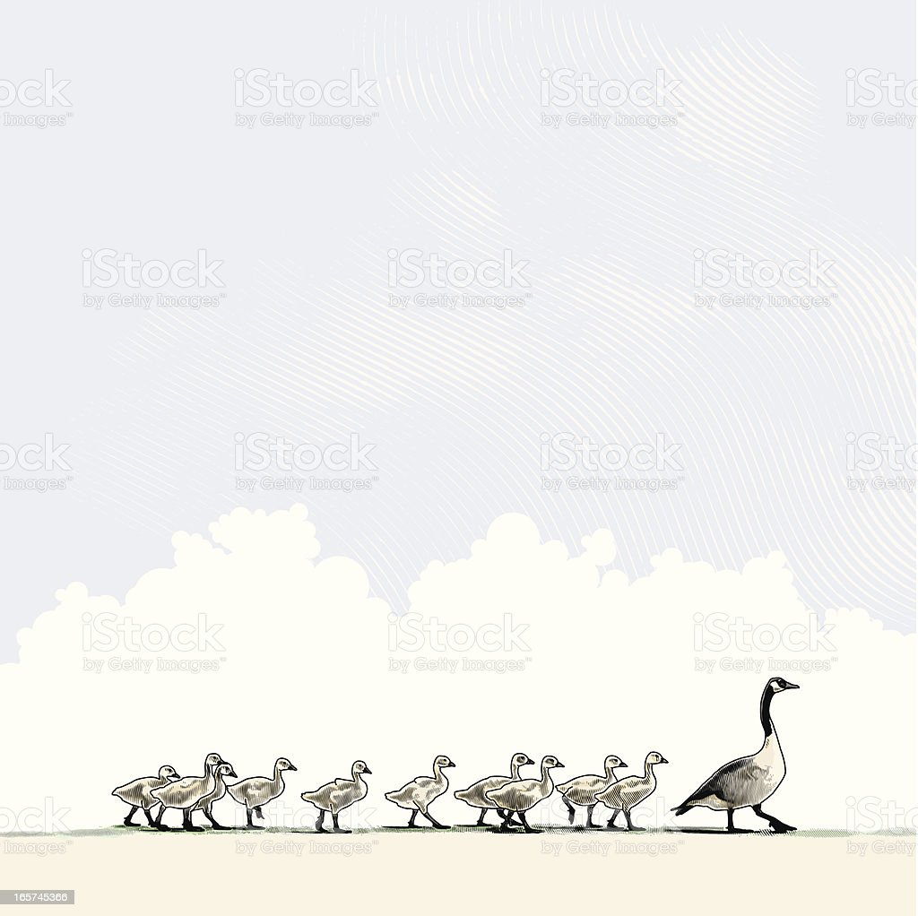 Mère de Goose et famille - Illustration vectorielle