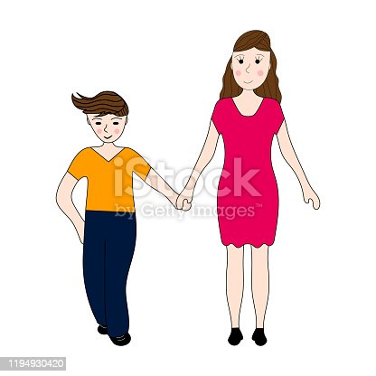 Mother keeps son of the teenager arm